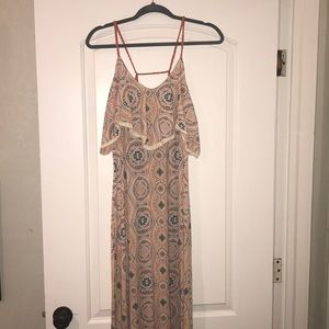 Colorful maxi dress, size large